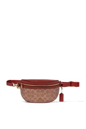 Rust Signature Canvas Belt Bag