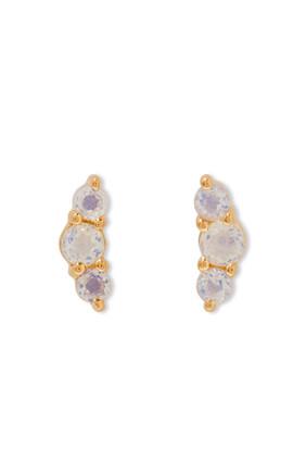 Opalite Trio Stud Earrings