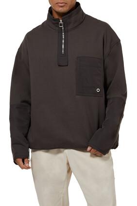 Half-Zip Patch Pocket Jacket