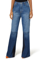 Patch Work Flare Jeans