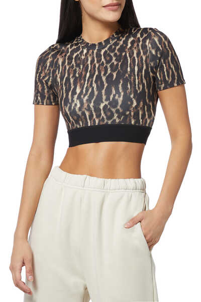 H19 Leopard Crop Top