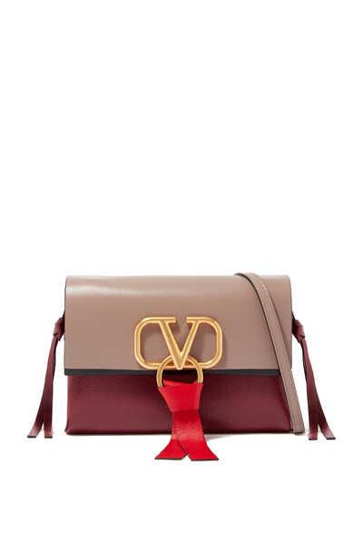 Valentino Garavani Small VRING Leather Crossbody Bag