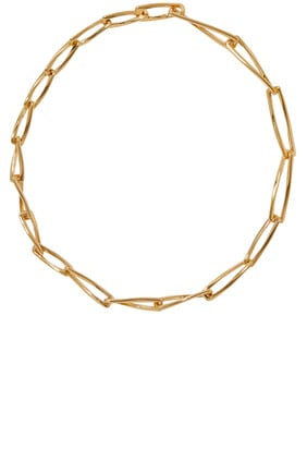 Gold Graduated Chunky Pirouette Necklace