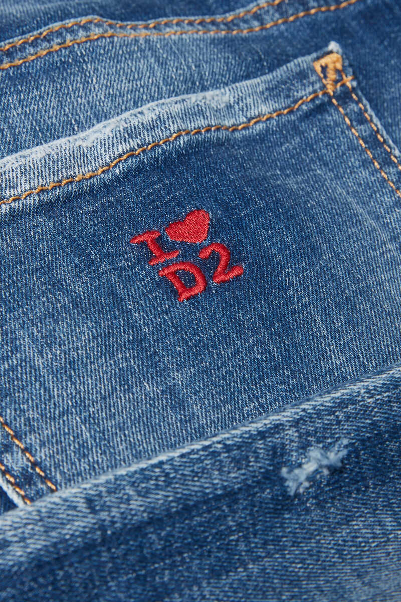 Logo Embroidered Jeans image number 4