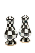 Courtly Check Enamel Large Salt And Pepper Shakers Set