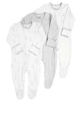 Elephant Sleepsuit, Set of Three