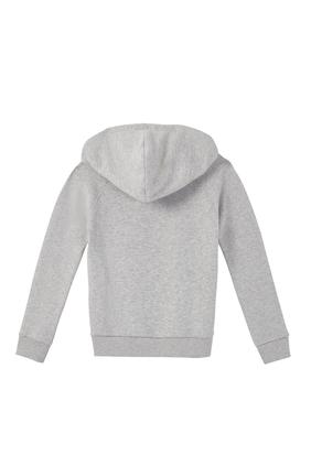 Distressed Logo Hooded Sweatshirt