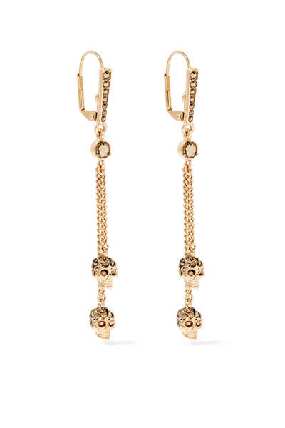 Skull Chain Drop Earrings