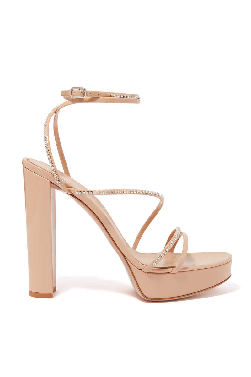 Strass Strappy Platform Sandals image thumbnail number 1