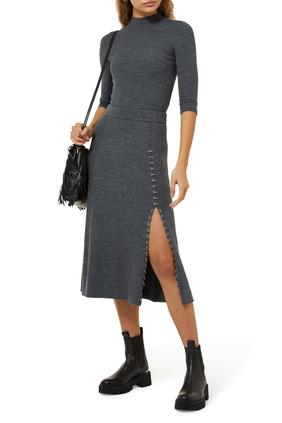 Jupitta Knitted Slit Skirt