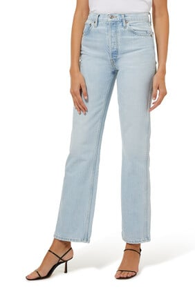 90s Distressed High-Rise Jeans