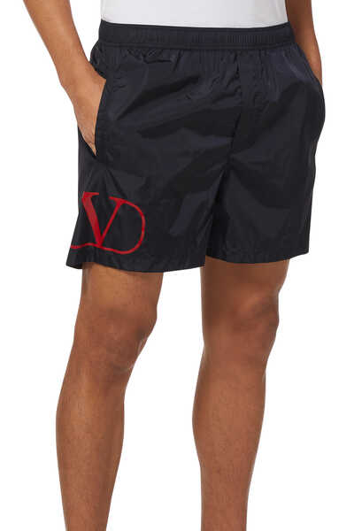 Vintage V Logo Swim Shorts
