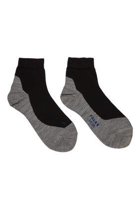 Black Active Sunny Days Kids Sneaker Socks