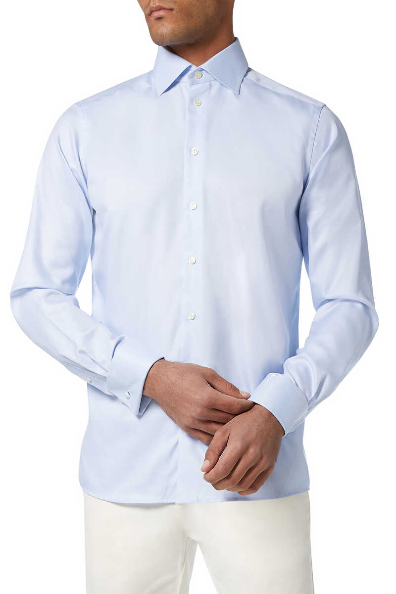 Contemporary Fit Twill Shirt image number 1