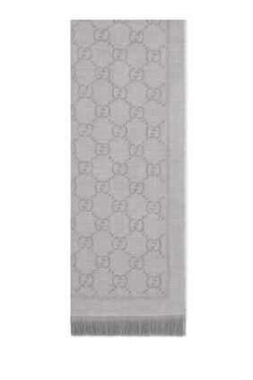 GG Jacquard Pattern Knitted Scarf