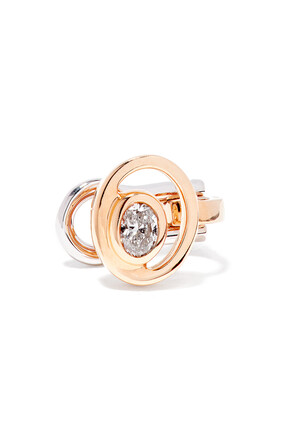 Rock Blossom Oval Diamond Cuff Earring in 18kt Rose Gold