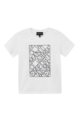 Embroidered Crossword Logo T-Shirt