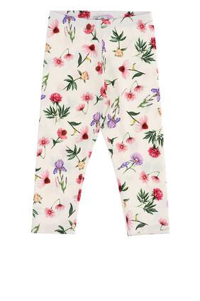 Cotton Floral Leggings