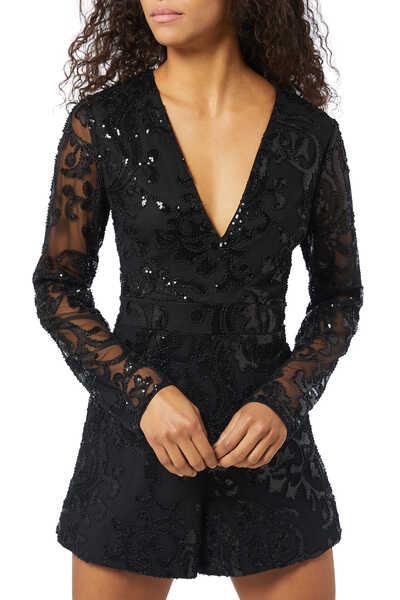 Riso Sequin Embellished Romper
