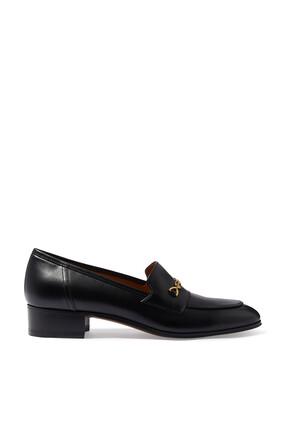 Horsebit Gold Loafers