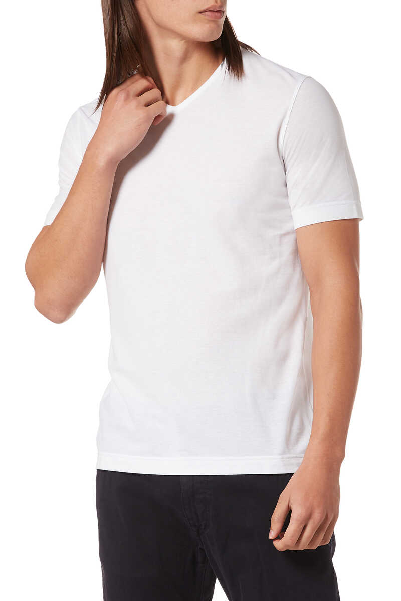 Ice Cotton V-Neck T-Shirt image number 1