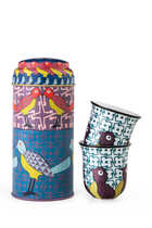 Birds of Paradise Tin Box With Cups, Set of Two
