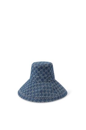 Eco Washed Denim Wide Brim Hat