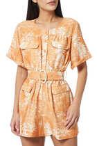 Mariel Floral Print Jumpsuit