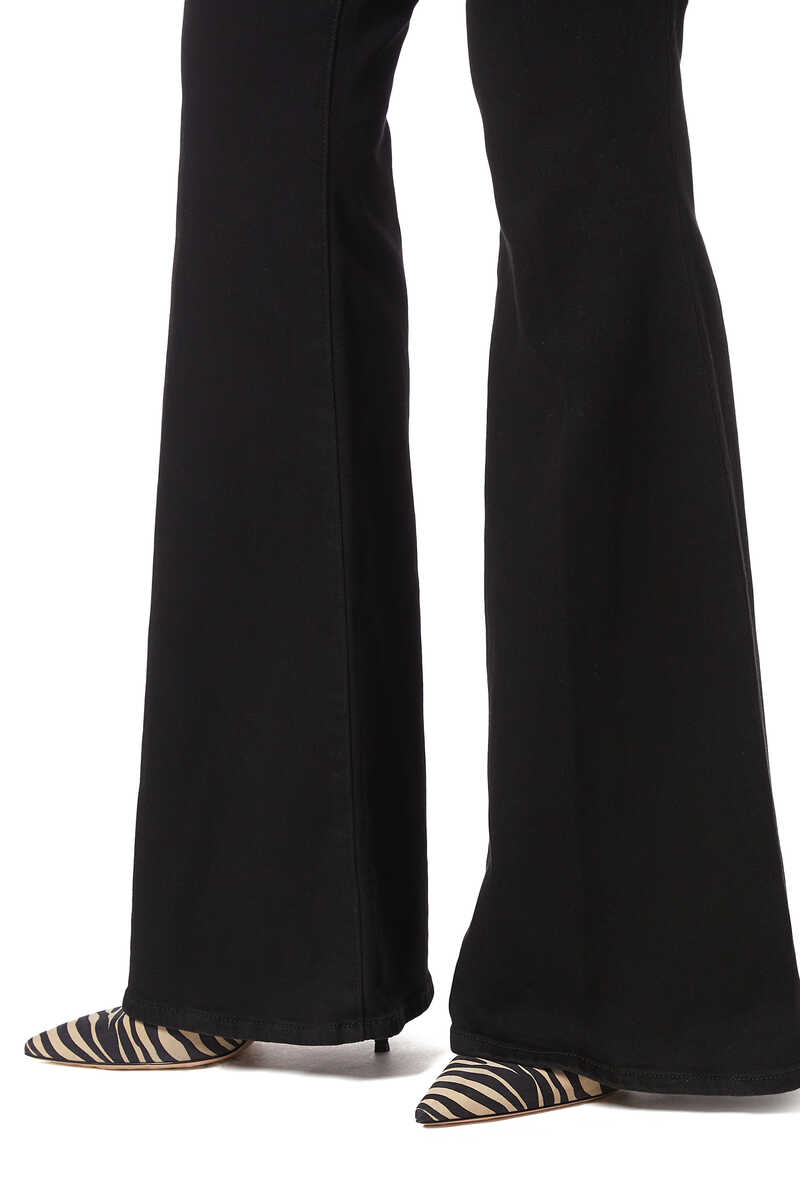 Black Solana Big Flare Pants image number 4