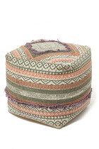 Abstract Print Pouf