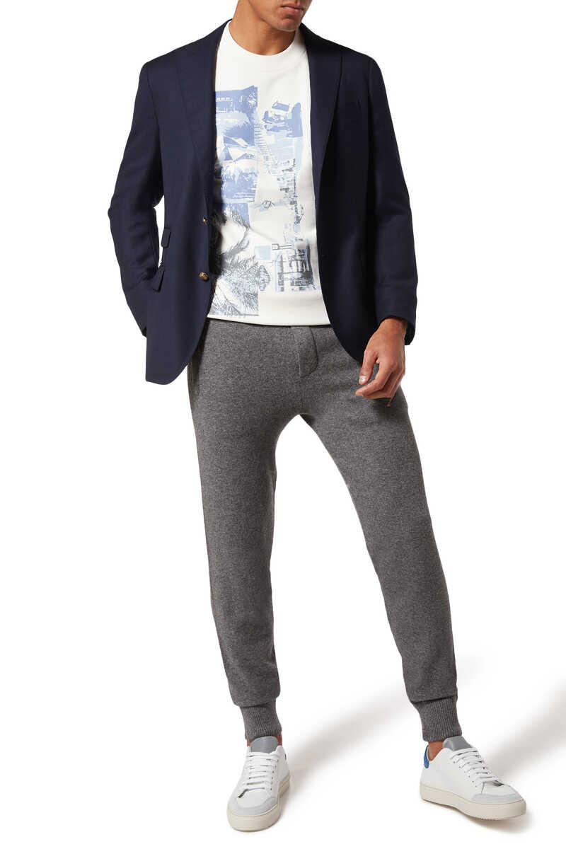 Wool And Cashmere Track Pants image number 2