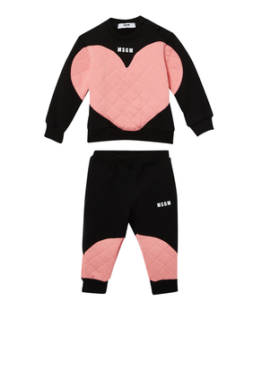 Heart Sweatpants Set