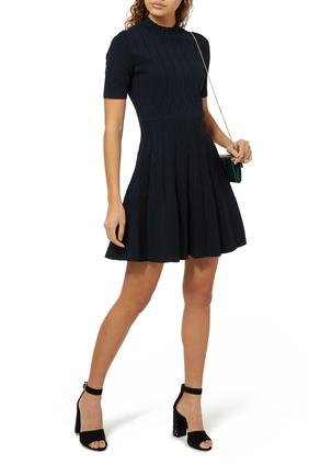 Jacquared Knit Skater Dress