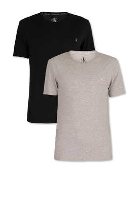 CK One Crew Neck T-Shirts, Pack of 2