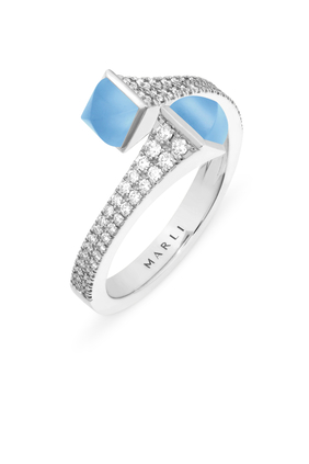Cleo Wrap Ring in 18kt White Gold
