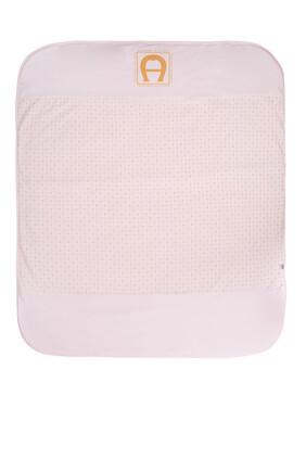 Gold Logo Print Padded Blanket