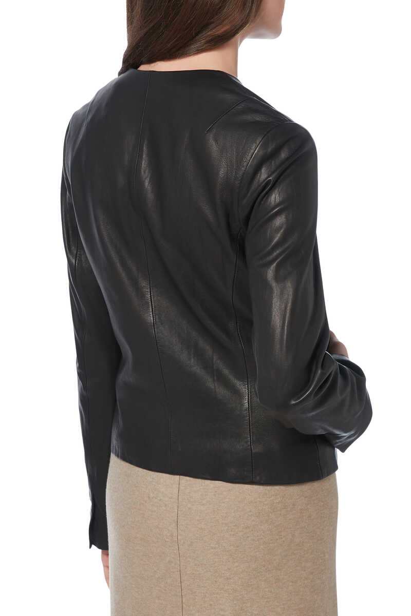 Leather Cross Fit Jacket image number 3