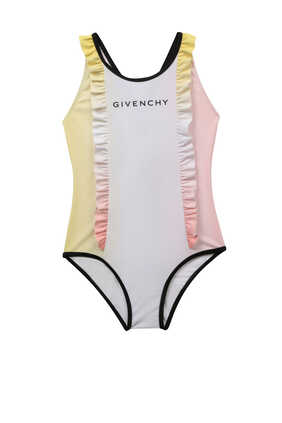 Logo Ruffle Swimsuit