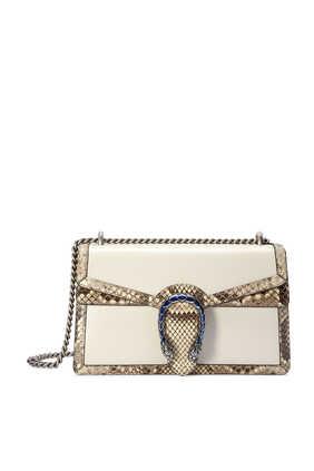 Dionysus Small Shoulder Bag With Python Trim