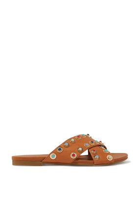 Colorful Studded Flat Sliders