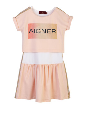 Glitter Logo Dress