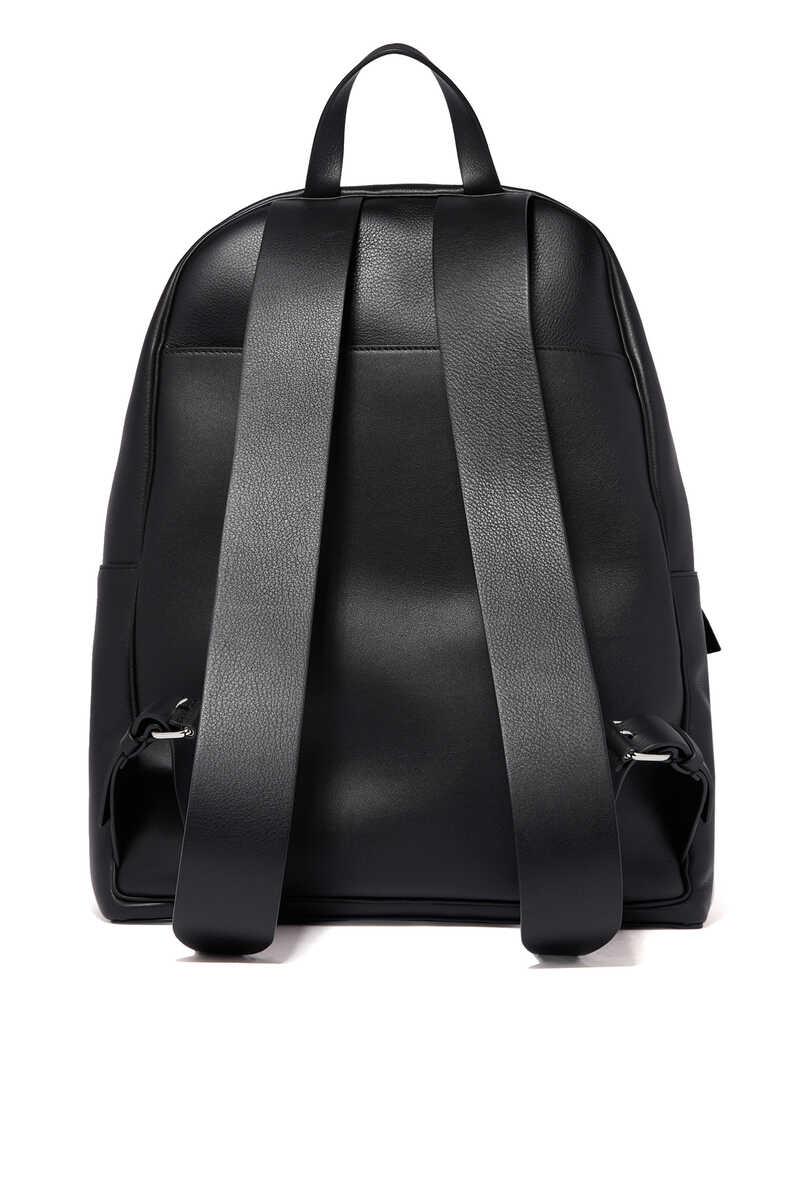 Valentino Garavani Vintage V Logo Leather Backpack image number 3