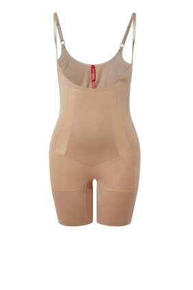 Oncore Open Bust Mid-Thigh Body Suit