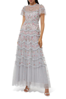 Elsie Tiered Lace Gown