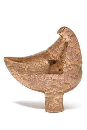 Ceramic Crowned Love Bird Statue
