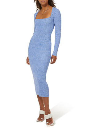 Ribbed Rayon Knit Dress