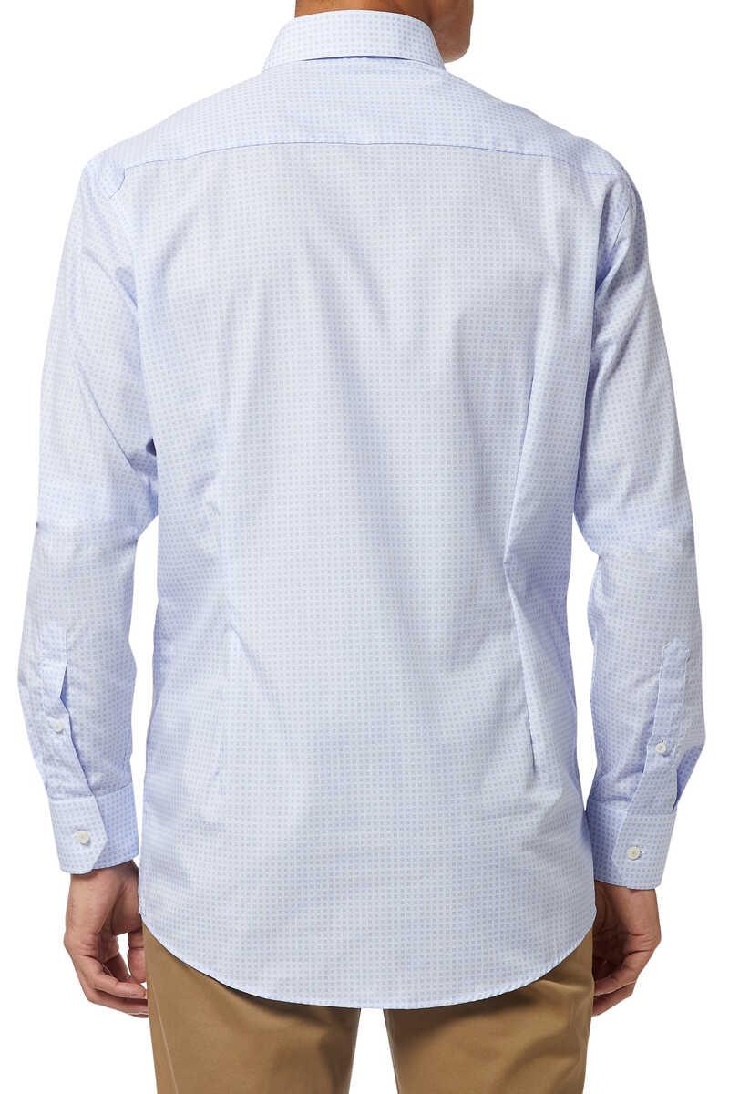 Tile Print Poplin Shirt image number 3