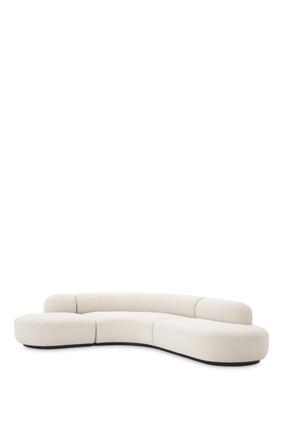 EZ Sofa Bjorn L Boucle:White :One Size