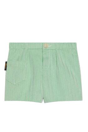 Herringbone Shorts With Gucci Label