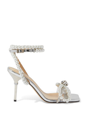 Pearl Bow Sandals